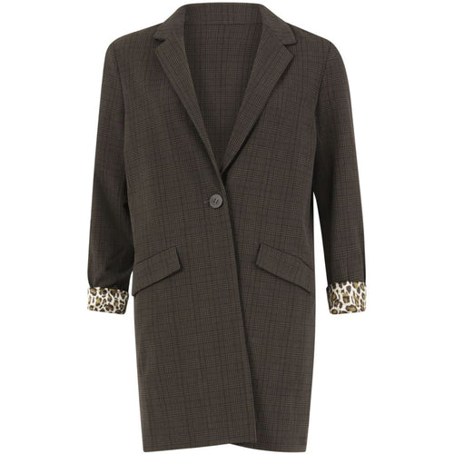 COSTER LONG JACKET WITH CHECKS