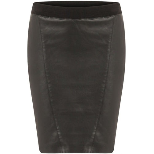 COSTER PENCIL SKIRT IN LEATHER WITH JERSEY BACK