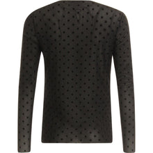Load image into Gallery viewer, COSTER BLOUSE IN MESH WITH VELVET DOTS