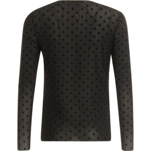COSTER BLOUSE IN MESH WITH VELVET DOTS