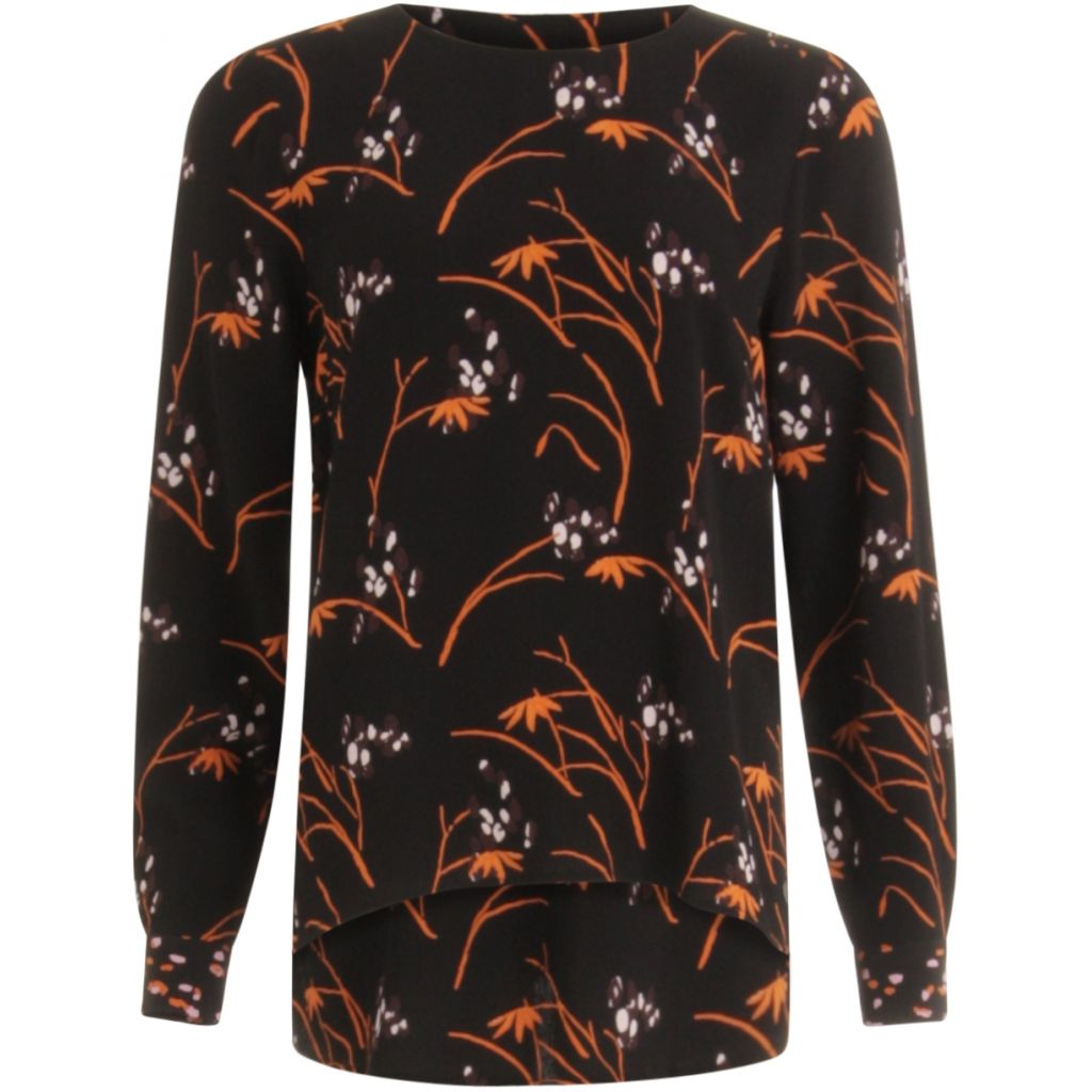 COSTER Blouse in Hibiscus Print