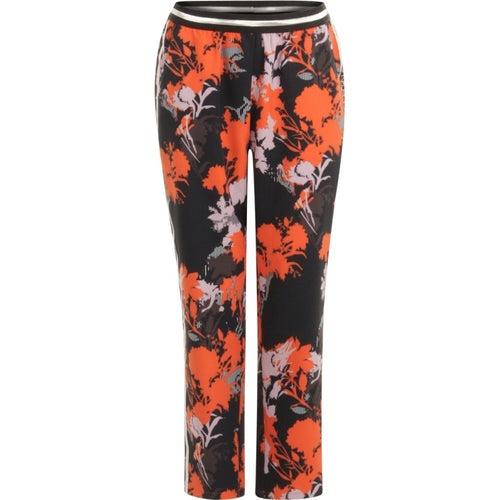 COSTER  Pants in forest print w. tape - Sille