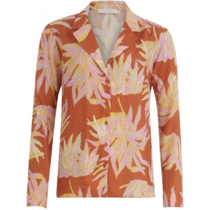 COSTER Pajama Look Shirt in Hyper Tropic Print - last size 36