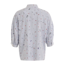 Load image into Gallery viewer, COSTER Shirt in Blue and White with 3/4 Sleeve