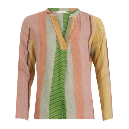 COSTER Blouse with Long Sleeve in Stroke Print
