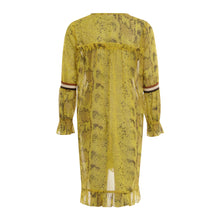 Load image into Gallery viewer, COSTER Dress in Python Print with Long Sleeves