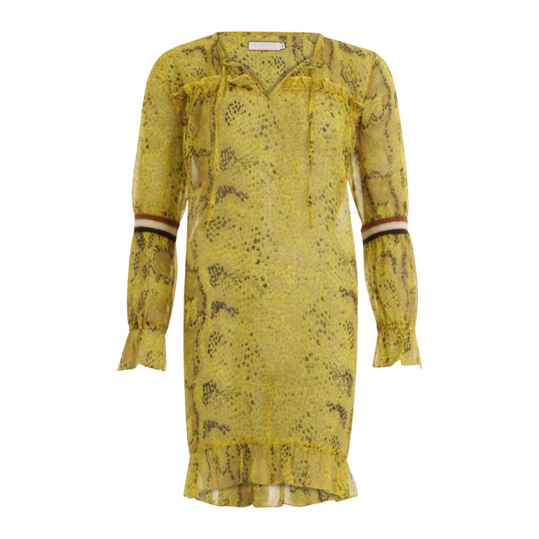 COSTER Dress in Python Print with Long Sleeves