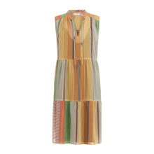 Load image into Gallery viewer, COSTER Sleeveless Dress in Stroke Print with Lurex Thread