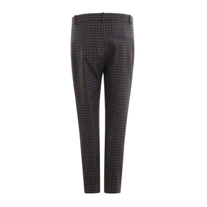 COSTER Pants in Jacquard Print with Lurex Thread Lucia Fit