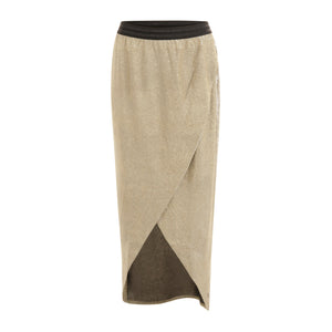 COSTER Skirt in Silver Grey Glitter