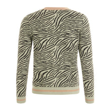 Load image into Gallery viewer, COSTER  Knitted cardigan in zebra pattern