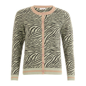 COSTER  Knitted cardigan in zebra pattern