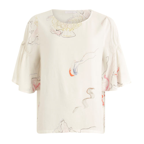 COSTER  Blouse w. frill sleeves