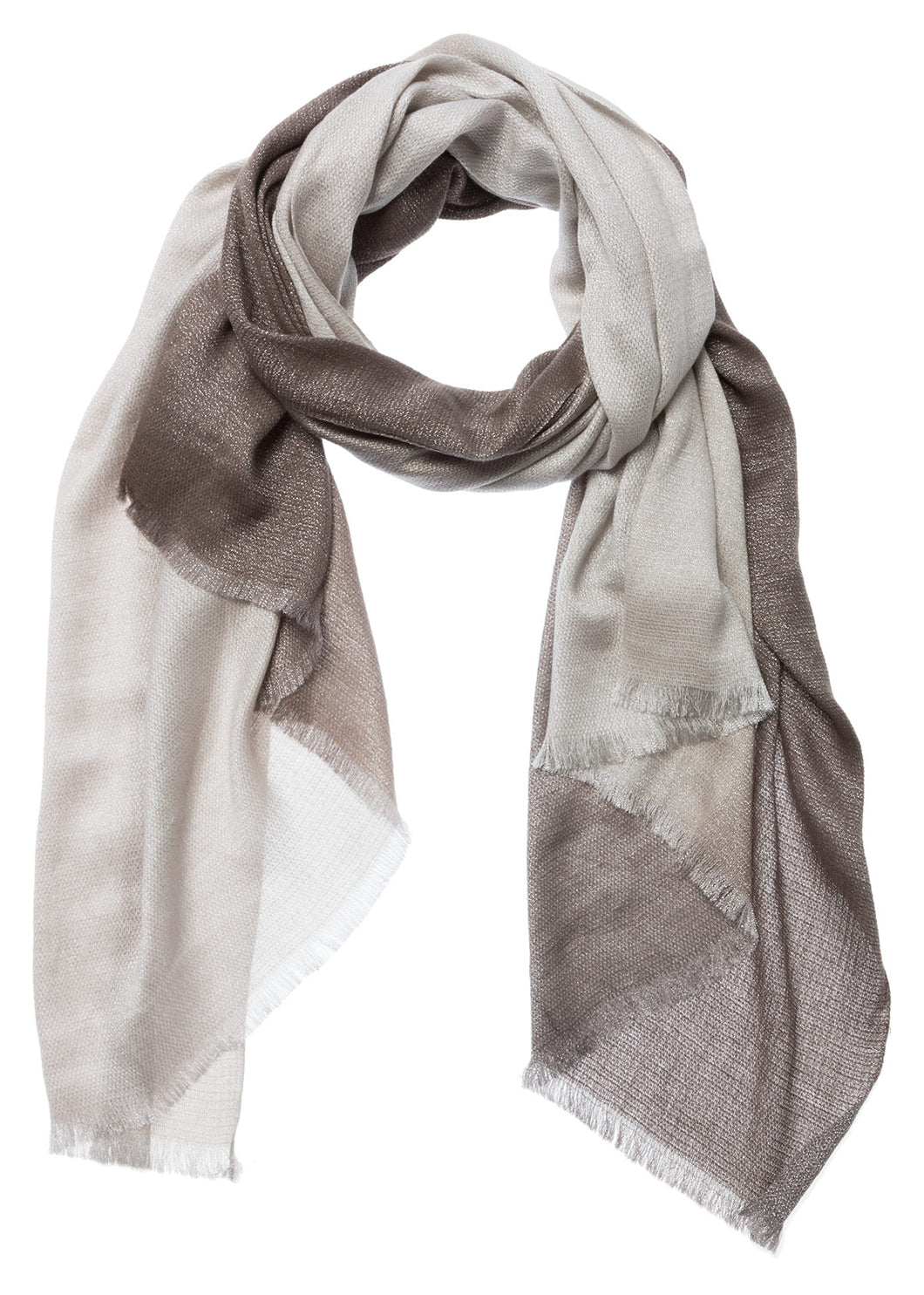 YAYA OMBRE SCARF WITH SHINE