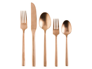 Stainless steel cutlery set with hexagon handle
