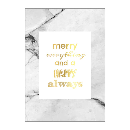YAYA HOME POSTCARD SINGLE 'MERRY EVERYTHING' 10X15CM