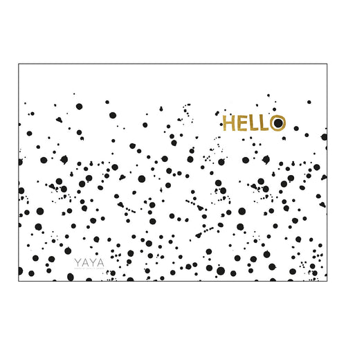 YAYA HOME POSTCARD DOUBLE 'HELLO' 10X15CM