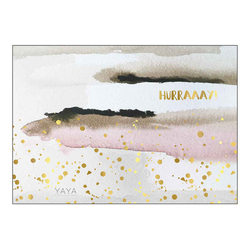 YAYA HOME POSTCARD DOUBLE 'HURRAAAY!' 10X15CM
