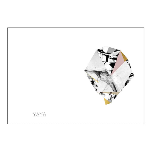 YAYA HOME POSTCARD DOUBLE 'DIAMOND ROCK' 10X15CM