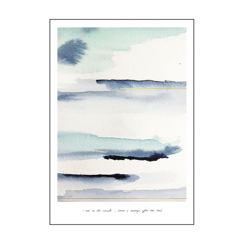 YAYA HOME POSTCARD SINGLE 'I AM IN THE CLOUDS' 15X21CM