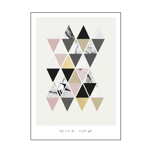 YAYA HOME POSTCARD SINGLE 'TODAY IS THE DAY' TRIANGLE PATTERN 15X21CM