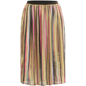 COSTER Skirt in plissé and multi color print