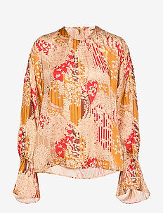 BYTIMO Satin Embroidered Top