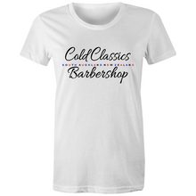 Load image into Gallery viewer, WOMENS Cold Classics Barbershop SA NZ Tee