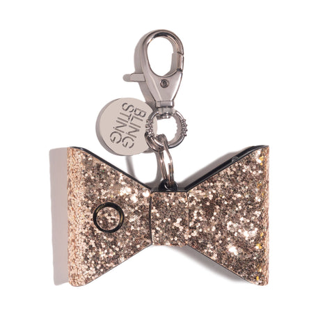 AL3 RGLD | Rose Gold Glitter Bow | WHOLESALE