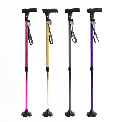 KK ASST | 4 Pack Assorted Personal Safety Canes |  WHOLESALE