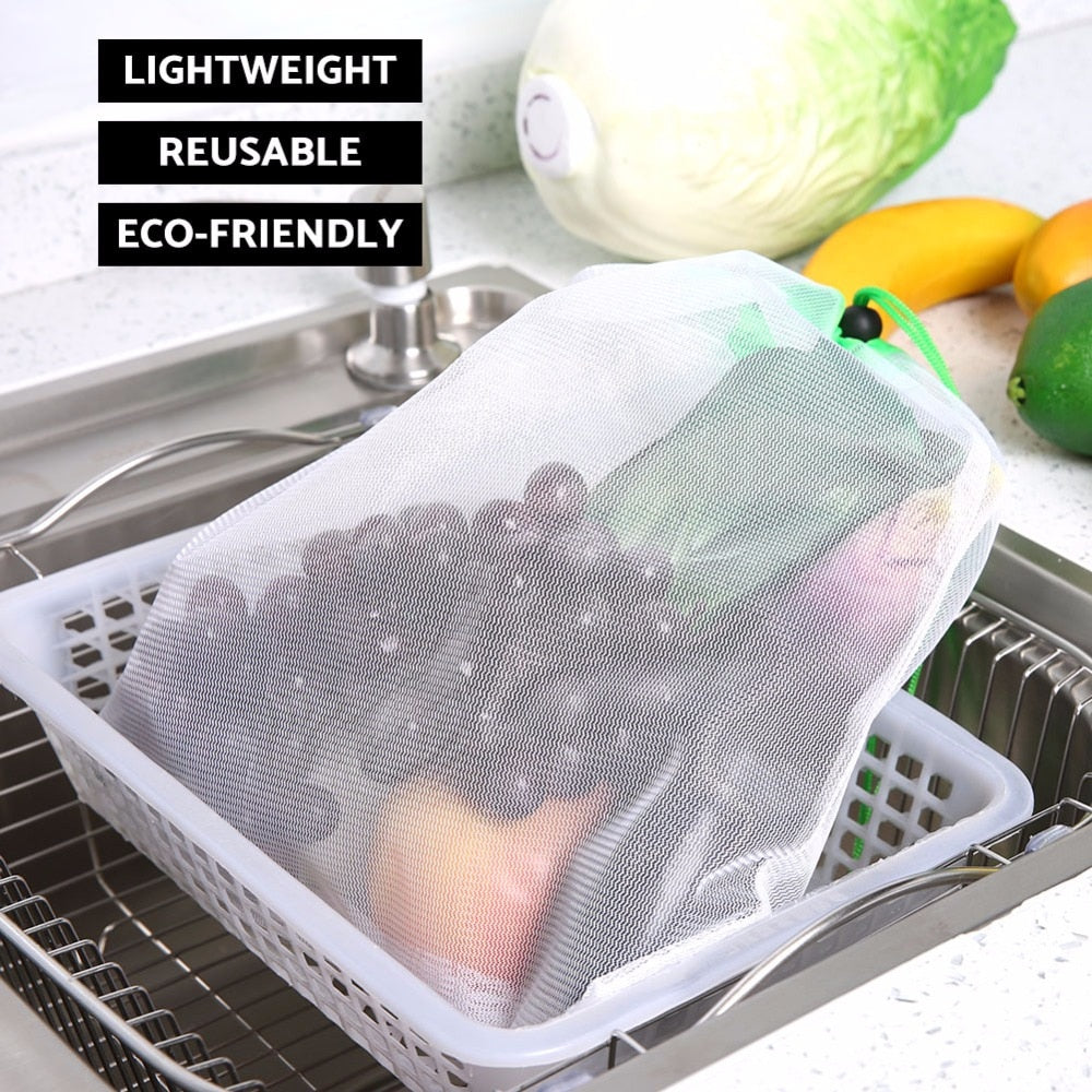 Evolved™ Zero-Waste Reusable Produce Bags - 15pcs