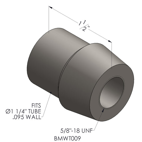 "5/8""-18 For 1.25 x 0.095 Wall Tubing (RH)"