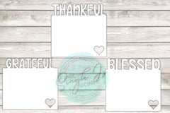 Thankful Grateful Blessed photo panel