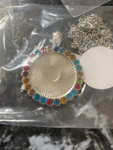 Circle Bling Necklace