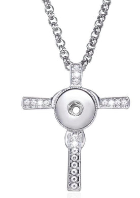 Bling Cross Snap Necklace