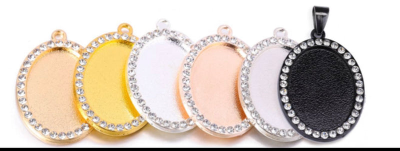 Bling Small Oval Necklace
