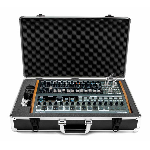 Arturia MiniBrute 2S Travel Case - Open With Synth