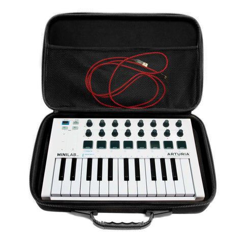 Arturia MiniLab Travel Case - Case open with controller