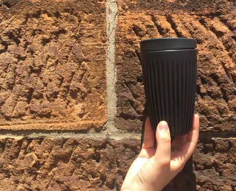 12oz Charcoal Black HuskeeCup, The Ekologi Store Australia