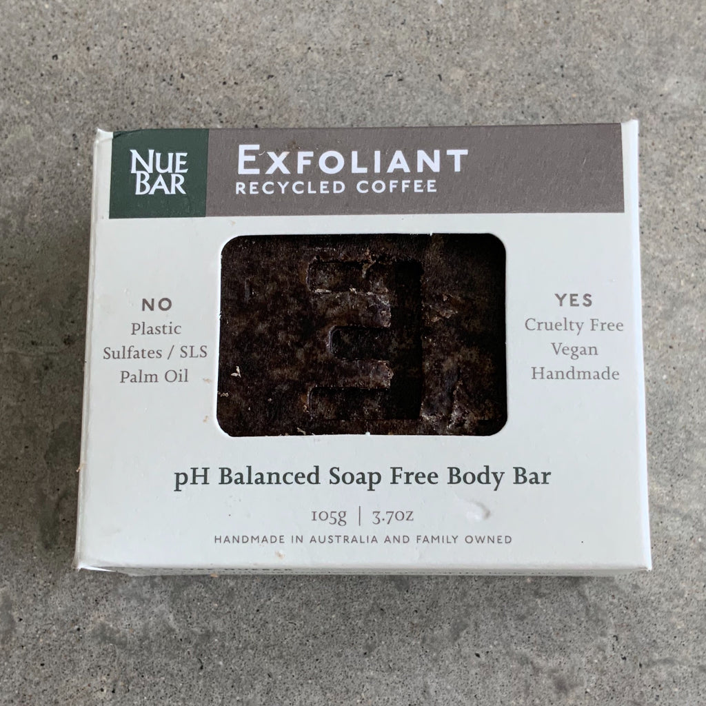 Nuebar Exfoliant Recycled Coffee Scrub from The Ekologi Store, Sydney, Australia