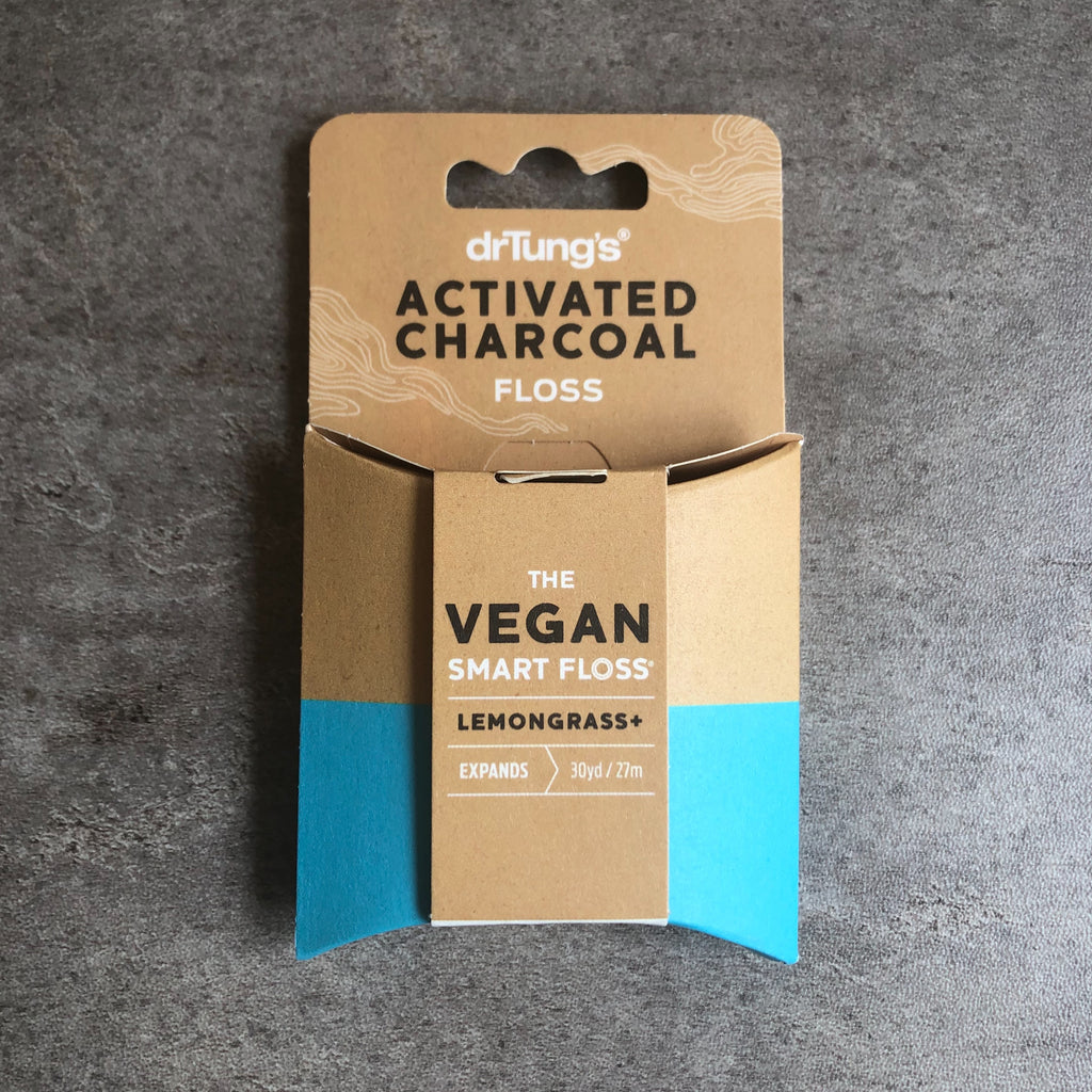 Dr Tungs Activated Charcoal vegan dental floss from The Ekologi Store, Sydney, Australia