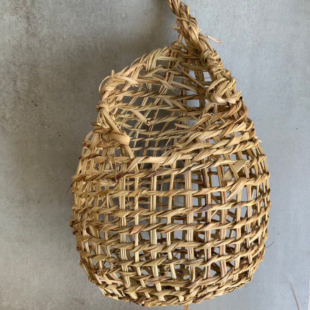 Basketboy natural handwoven tear hanging basket, Kangaroo Island, South Australia