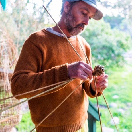 Basketboy, award winning artist and weaver from Kangaroo Island, South Australia