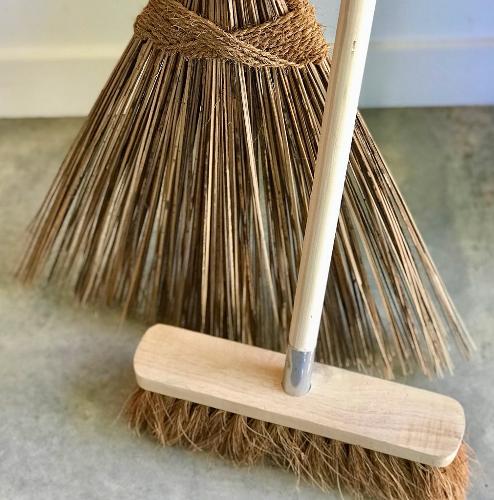 Eco Max Coconut Palm Wooden Broom Rake from The Ekologi Store, Sydney, Australia
