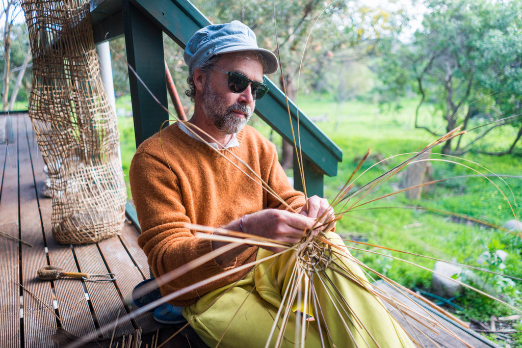 Sustainable weaver Basketboy from Kangaroo Island, South Australia