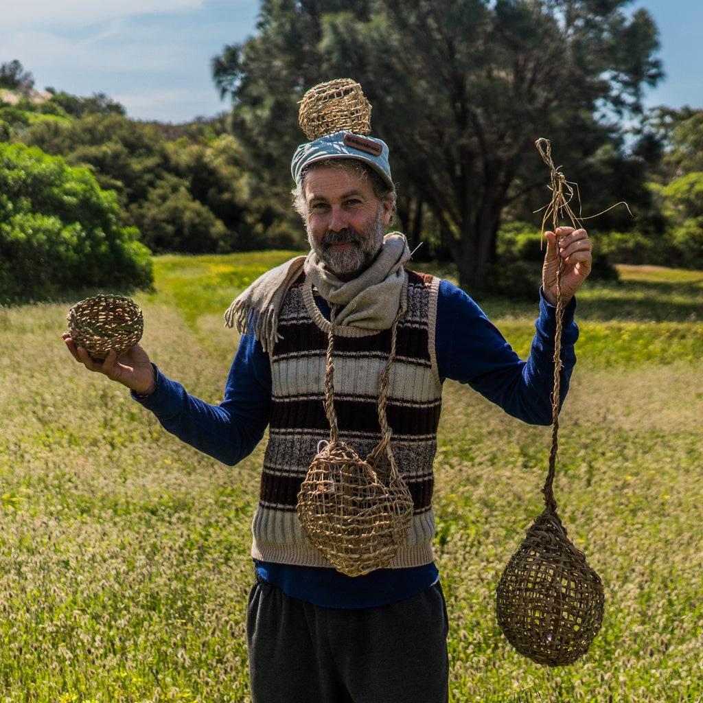 Basketboy, awarding winning artist and weaver from Kangaroo Island, South Australia