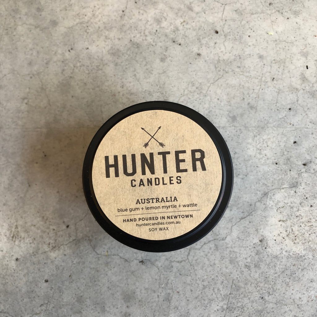 Hunter Candles Travel Tin from Asiki, Sydney, Australia