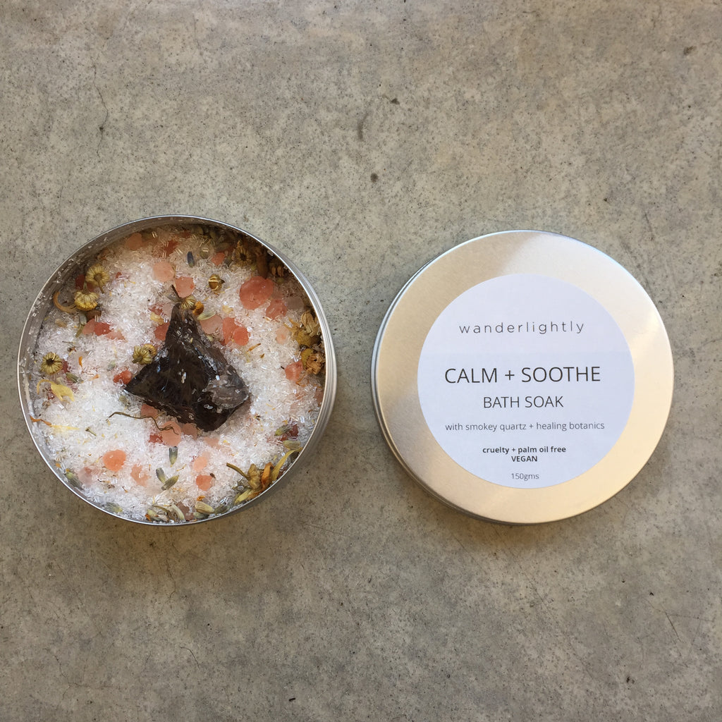 Bath Salts - 'Calm and Soothe' with Smokey Quartz