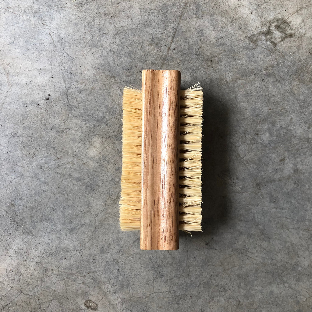Wooden nail and laundry brush