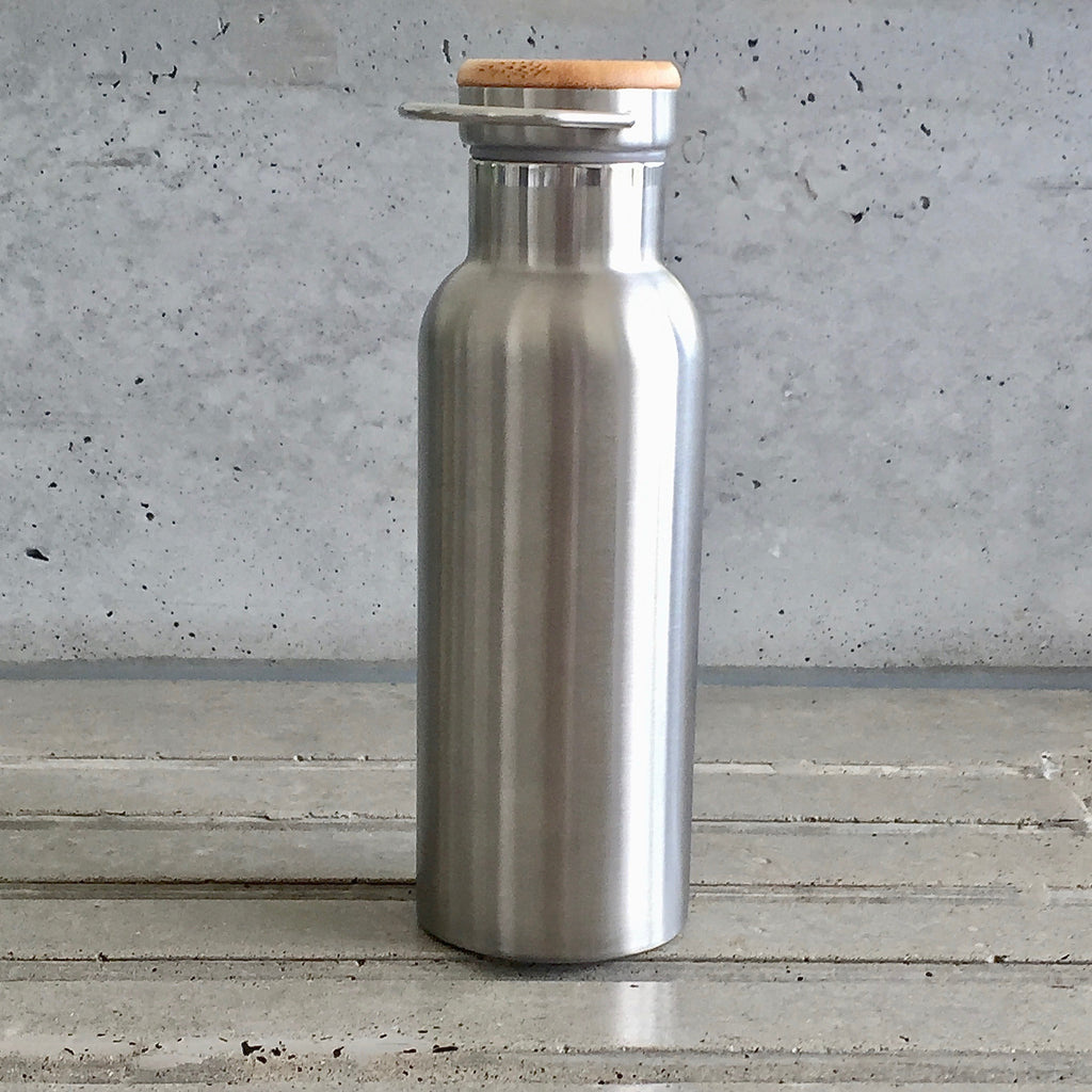 500ml Double Walled Stainless Steel Drink bottle for hot and cold drinks, from The Ekologi Store.